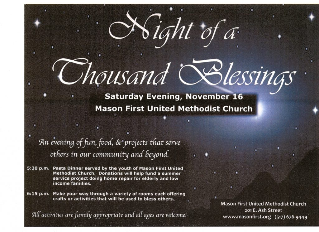 Night of a Thousand Blessings Saturday November 16, 2019